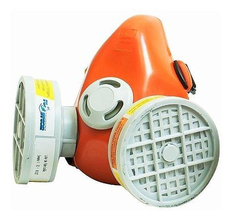 Respirador Duplo Facial Plastcor Gases, Vapores, Pintura