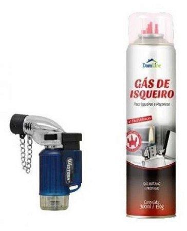 Mini Maçarico Portátil Recarregável 6000 WESTERN + Gas