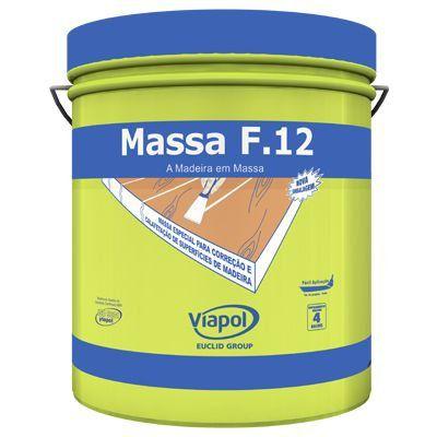 Massa F12 Calafetar Correção Madeira Viapol 400g Ipê