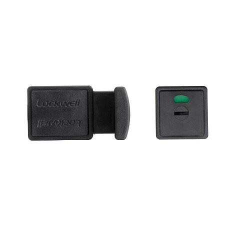 Trinco WC Livre/Ocupado PVC 10mm Preto LOCKWELL 723