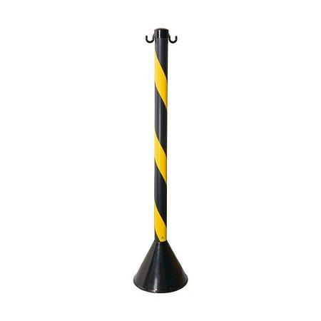 Pedestal PVC 90cm PROSAFETY Preto/Amarelo WPS1932