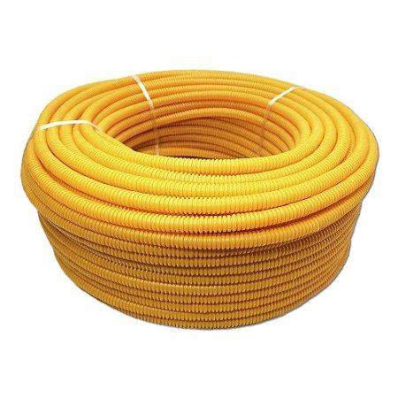 """Conduite Corrugado Amarelo DINOPLAST (A) 1/2""""x100m 1"""