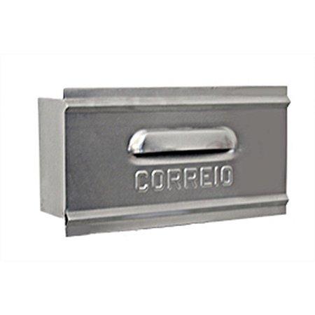 Caixa Carta Correio CARMAX Alum. 1/2 Tijolo Atrás