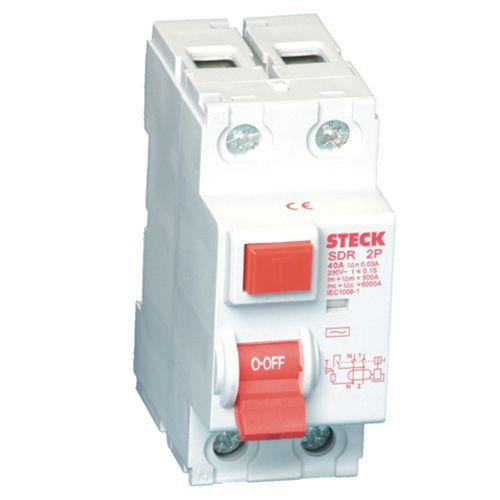 Interruptor Fuga STECK A362 80A 2P 30MA