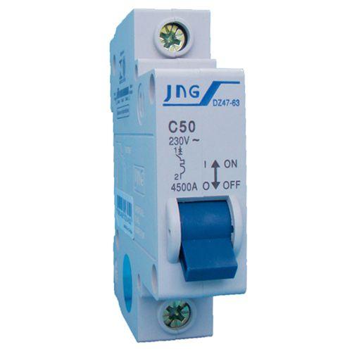 Disjuntor DIN Unipolar 10A DZ47 63 C JNG