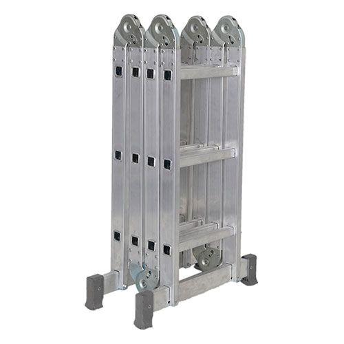 Escada De Alumínio Dobrável 12 Degraus 4x3