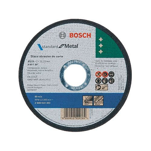 Disco Corte p/ Inox BOSCH 4.1/2 x 7/8 x 1.0