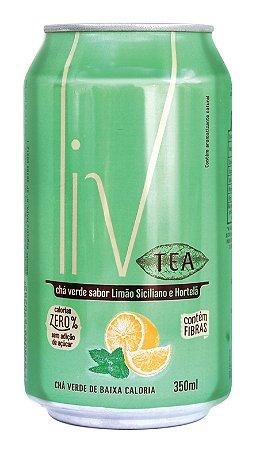 Liv Tea Limão Siciliano e Hortelã - 48 uni. latas
