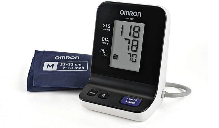 Monitor Digital de Pressão Arterial Automático de Braço - Uso Profissional (HBP-1100) - ACOMPANHA 02 BRAÇADEIRAS TAMANHO 'M' E 'G'.