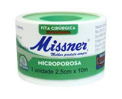 Fita Micropore 2,5cm x 10m - Missner