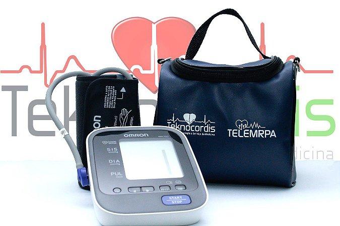 KIT PARA MRPA - Monitor De P. A. OMRON Elite+ com Bolsa Portátil Impermeável especial para transporte do aparelho