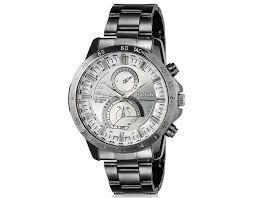 efb25e02b6c Relógio Masculino DINIHO 8012G de pulso analógico com banda de aço  inoxidável (branco)