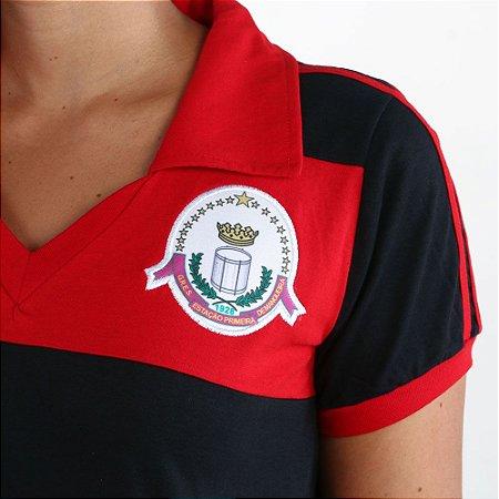Camisa Mangueira Retrô Flamengo FEM