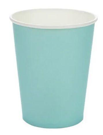 Copo de Papel Liso Azul Piscina Silver Festas 270ml C/ 10 Un.