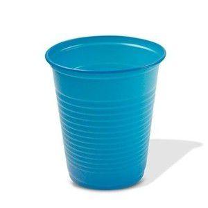 Copo Descartável 200 ml. Azul Claro Trik ABNT Pcte c/ 50 un.