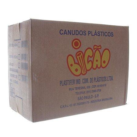 Canudo Embalado P/ Suco Bicão Cx C/ 4.000 Un.