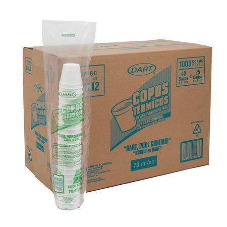 Copo Térmico Isopor 70 ml. Dart Cx c/ 1000 un.