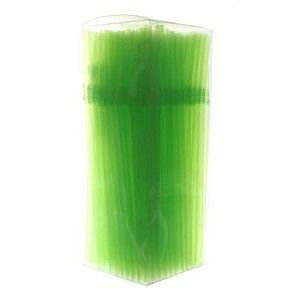 Canudo Flex Verde Neon C/ 150 Un.
