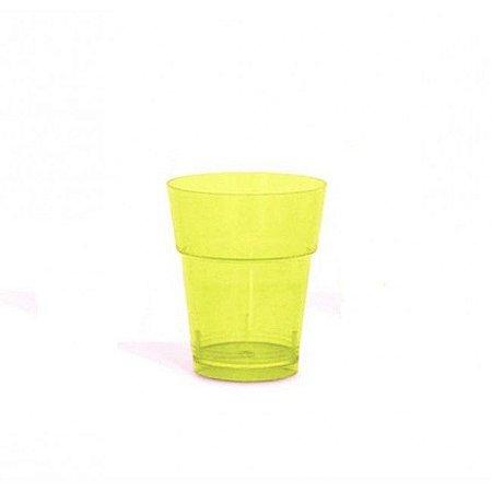 Copo em Acrilico Amarelo 10 ml. Plastilania C/ 50 Un.
