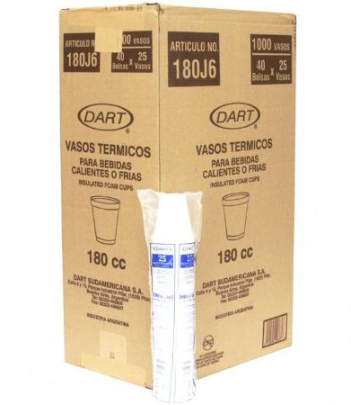 Copo Térmico Isopor 180 ml. Dart Cx c/ 1000 un.