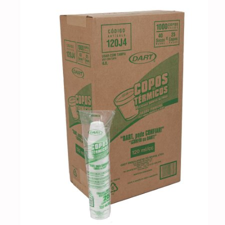 Copo Térmico Isopor 120 ml. Dart cx c/ 1000 un.