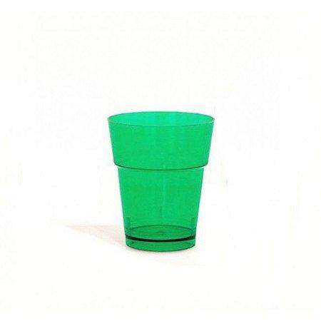 Copo em Acrilico Verde 10 ml. Plastilania C/ 50 Un.
