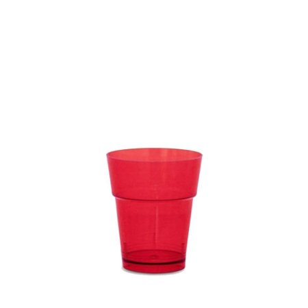 Copo em Acrilico Vermelho 10 ml. Plastilania C/ 50 Un.