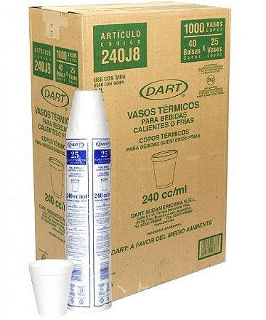 Copo Térmico Isopor 240 ml. Dart Cx c/ 1000 un.