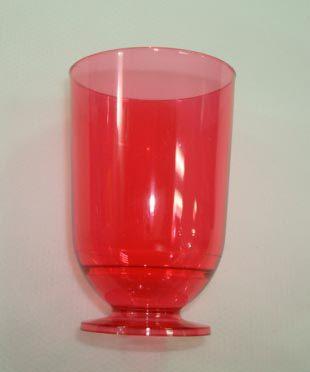 Taça em Acrilico Vermelho 45 ml. Plastilania C/ 10 Un.