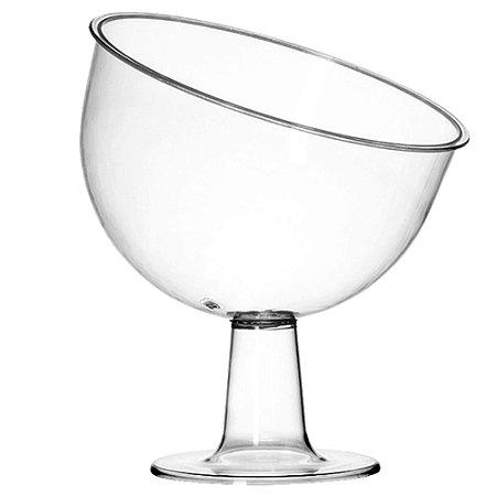 Taça Em Acrilico Cristal Inclinada Grande Tres Triangulos Un.