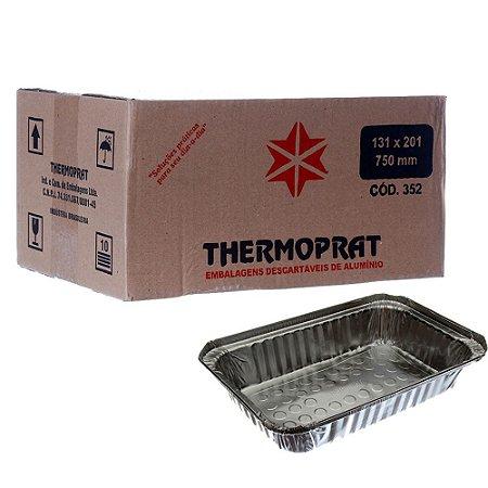 Marmitex em Alumínio 750 ml. Thermoprat Cx C/ 100 Un.