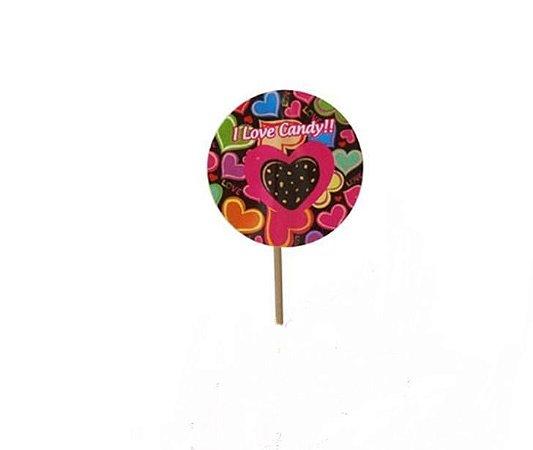 Palito Decorativo Candy C/ 10 Un.