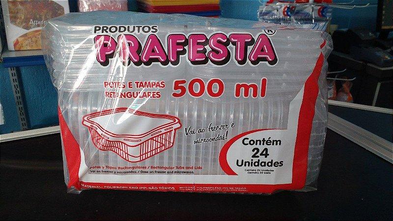 Pote PP Ret. 500 ml. C/ Tampa Prafesta C/ 24 Un.