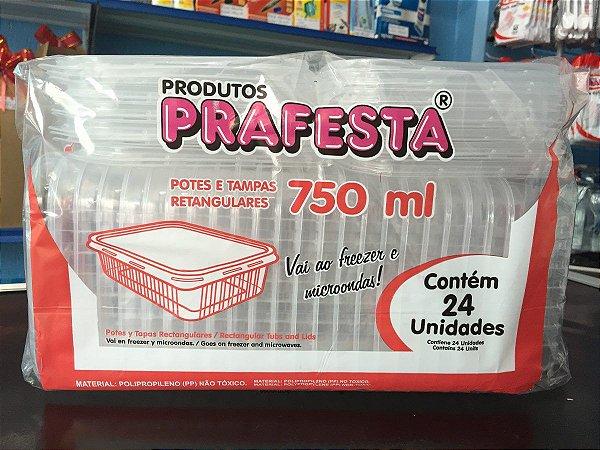 Pote PP Ret. 750 ml. C/ Tampa Prafesta C/ 24 Un.