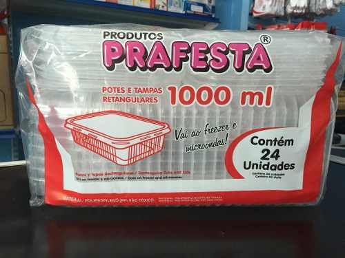 Pote PP Ret. 1.000 ml. C/ Tampa Prafesta C/ 24 Un.