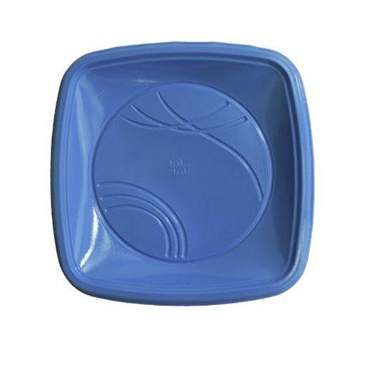 Prato 15 x 15 Cm Quad. Azul Trick C/ 10 Un.