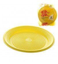 Prato 15 Cm Red. Amarelo Trick C/ 10 Un.