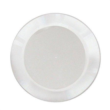 Prato em Acril 21 Cm Red. Branco Plastilania C/ 10 Un.