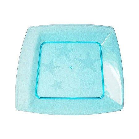 Prato em Acril 21 Cm Qd. Azul Plastilania C/ 10 Un.