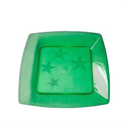 Prato em Acril 15 Cm Qd. Verde Plastilania C/ 10 Un.