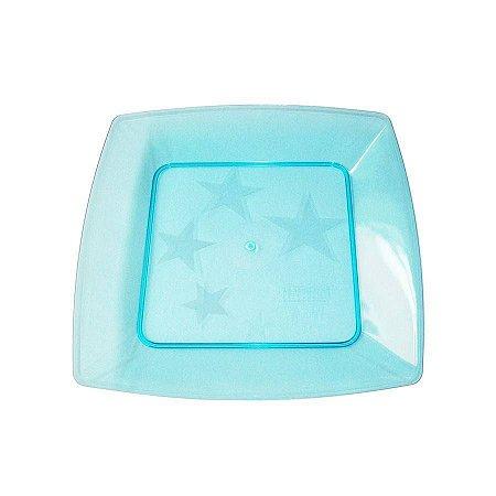 Prato em Acril 15 Cm Qd. Azul Plastilania C/ 10 Un.