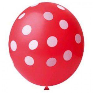 Balão Confete Vermelho C/ Branco Nº 11 Happy Day C/ 25 Un.