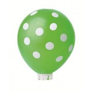 Balão Confete Verde C/ Branco Nº 11 Happy Day C/ 25 Un.