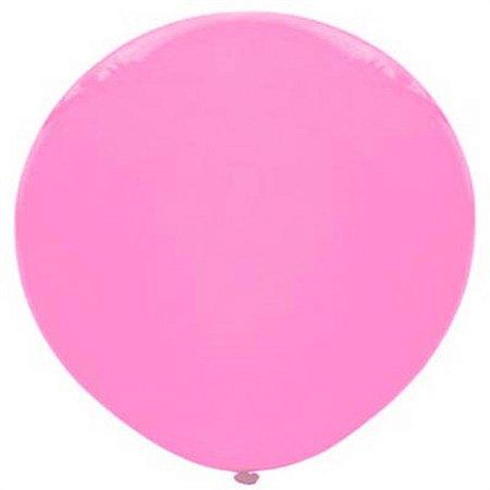 Balão Big Liso Rosa Santa Clara Un.