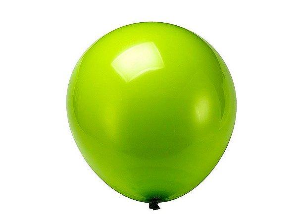 Balão Big Liso Verde Limão Santa Clara Un.