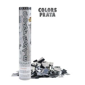 Confetes Prateados Laminados Mundo Bizarro C/ 16 G.