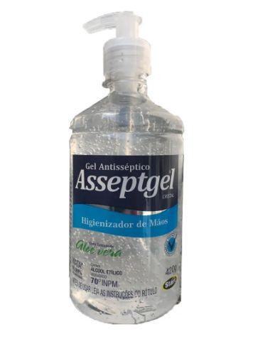 Álcool Gel Antisséptico 70% Asseptgel Pump C/ 420 Gr.