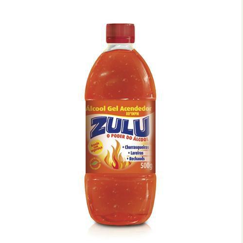 Álcool Gel Acendedor Zulu C/ 500 Gramas