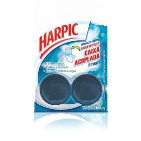 Bloco Sanit. P/ Cx Acoplada Harpic Fresh C/ 2 Un.