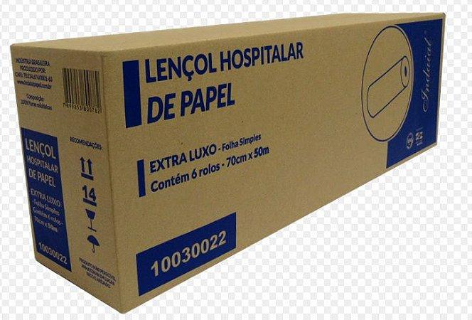 Lençol Hospitalar 70x50M Indaial Cx C/ 6 Un.